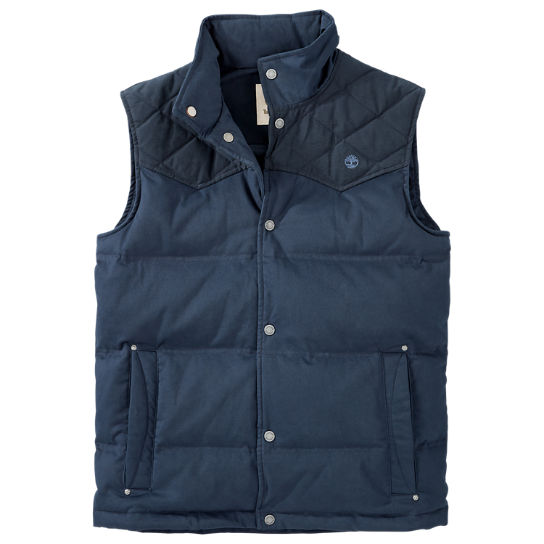 Men S Pilot Mountain Quilted Down Vest Timberland Us Store