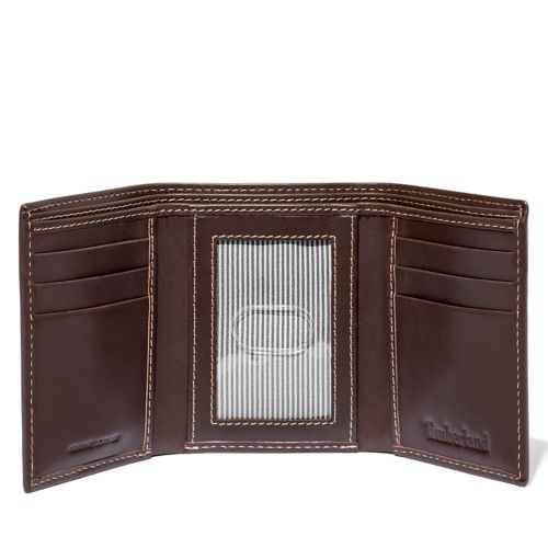 Smooth Leather Tri-Fold Wallet-