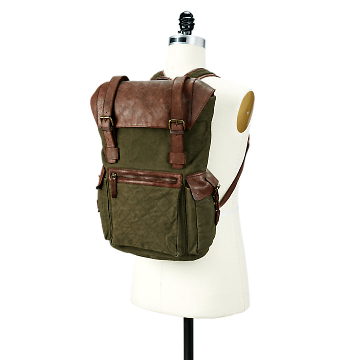 Nantasket Mixed-Media Backpack-