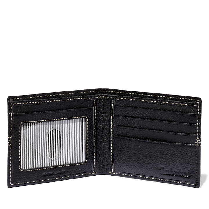 Pebbled Leather Bi-Fold Wallet-