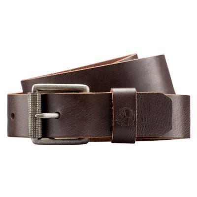 Men's Buffalo Leather Roller Buckle Belt