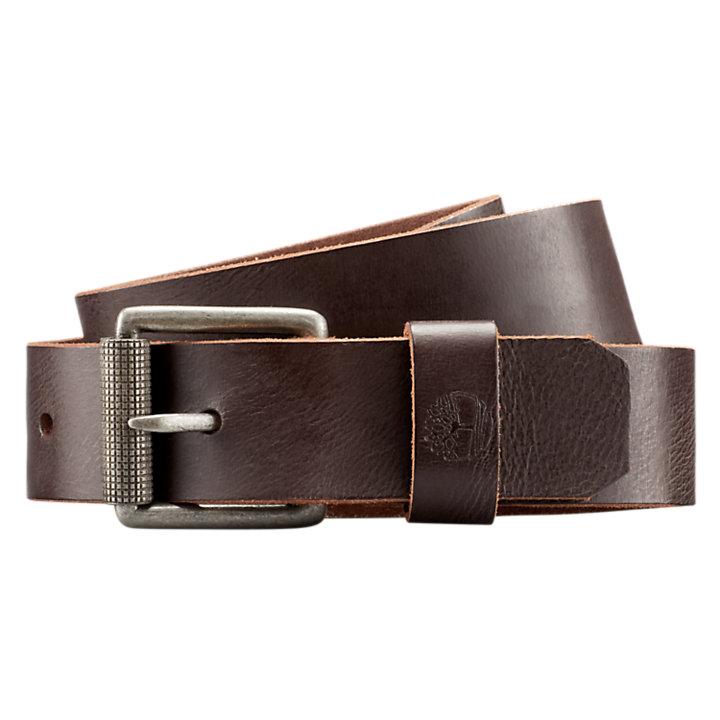 Men's Buffalo Leather Roller Buckle Belt-