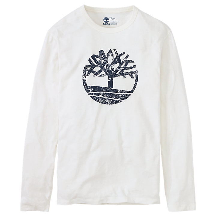 Men's Long Sleeve Tree Logo Ringer T-Shirt-