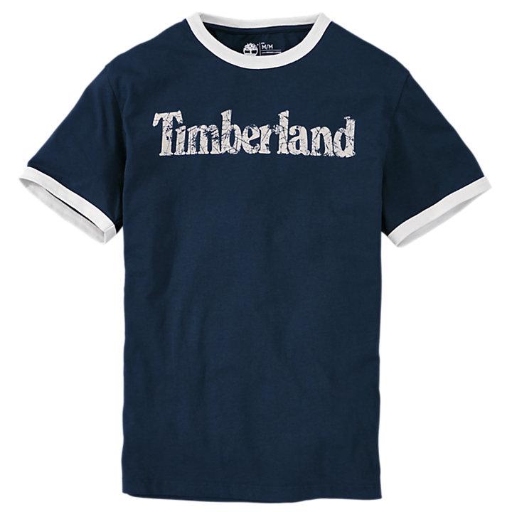 Men's Short Sleeve Linear Logo Ringer T-Shirt-