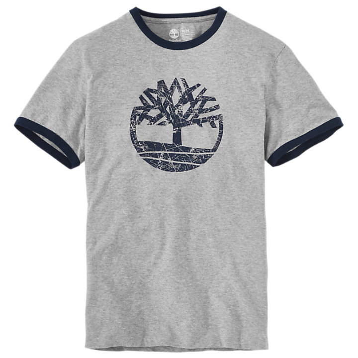 Men's Short Sleeve Tree Logo Ringer T-Shirt-