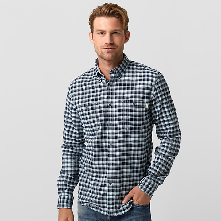 Men's Peabody River Slim Fit Oxford Check Shirt-