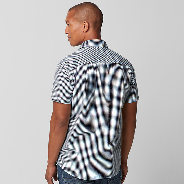 Men's Perry Stream Slim Fit Mini Check Shirt-