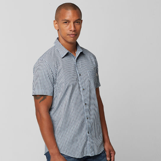 Men's Perry Stream Slim Fit Mini Check Shirt