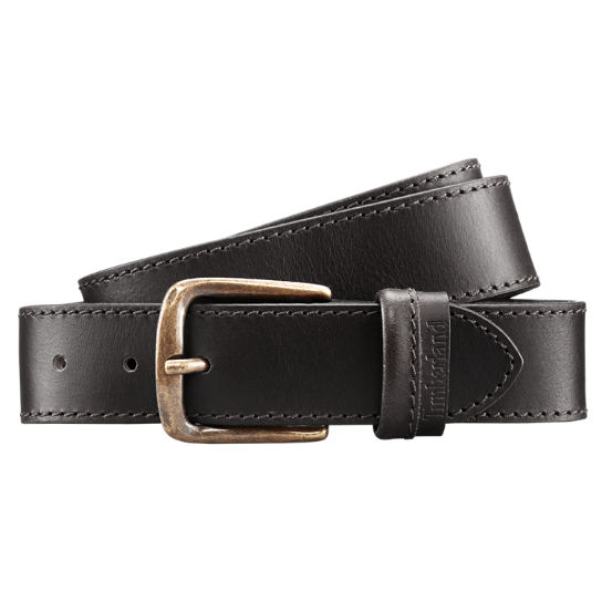 timberland s folded loop leather belt