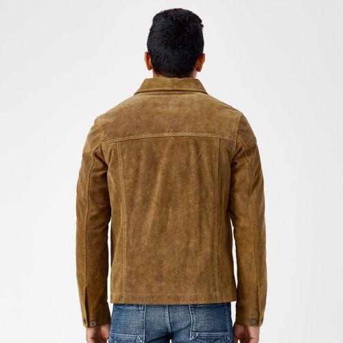 Men's Riveted Leather Welder Jacket-