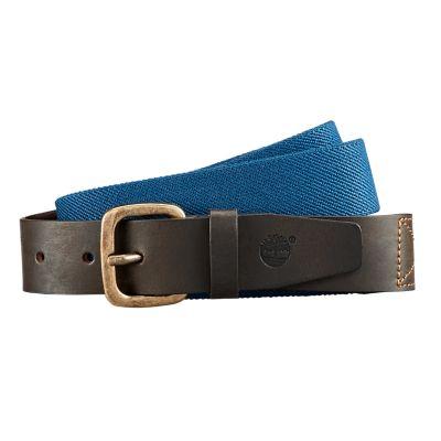 Elastic Canvas/Leather Belt