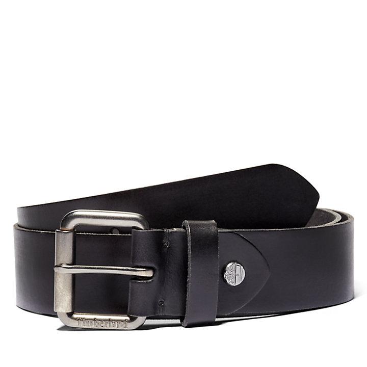 Men's Roller-Buckle Buffalo Leather Belt-