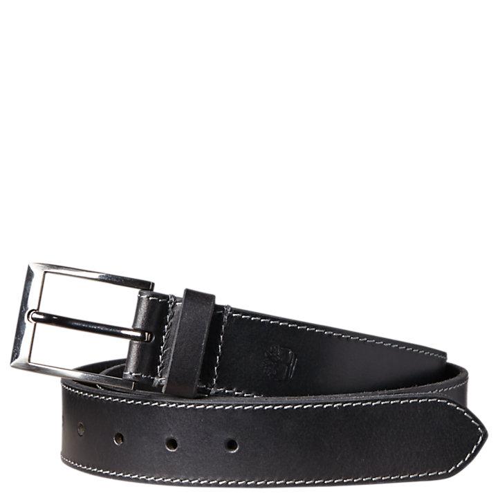 Men's Stitched Buffalo Leather Belt-