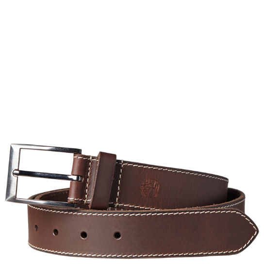 Men's Stitched Buffalo Leather Belt