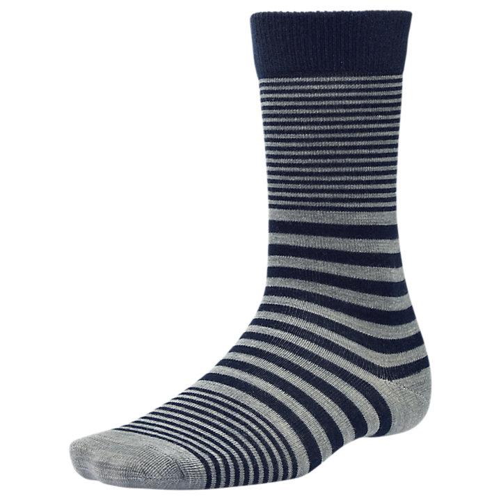Men's Premium Wool Striped Crew Socks-