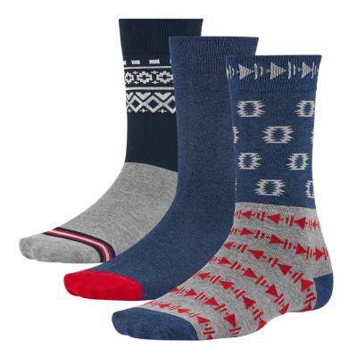 Men's Patterned Crew Socks (3-Pack)