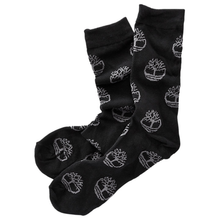 Men's Tree Logo Pattern Crew Socks-