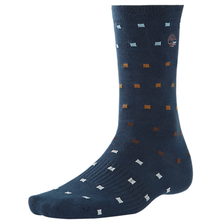Men's Square Dot-Pattern Socks-