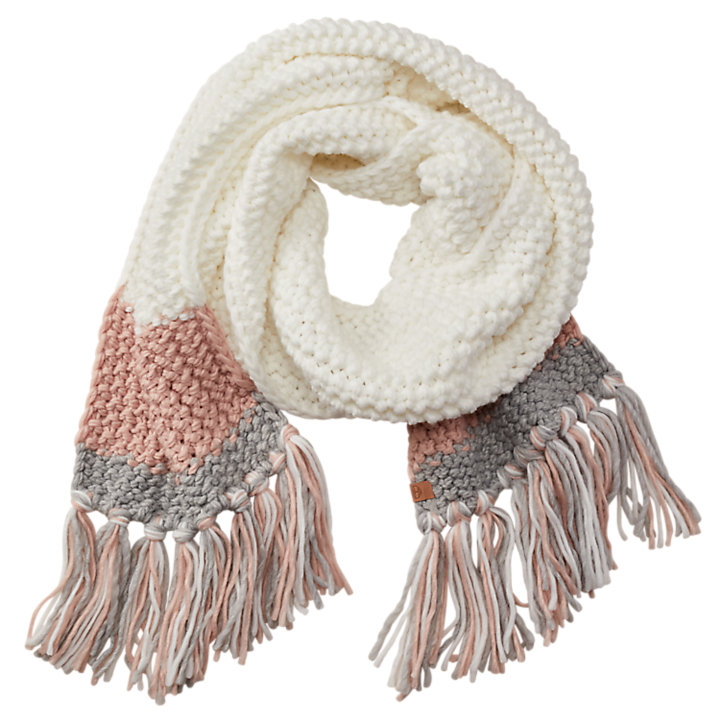 Cable-Knit Color Block Scarf-