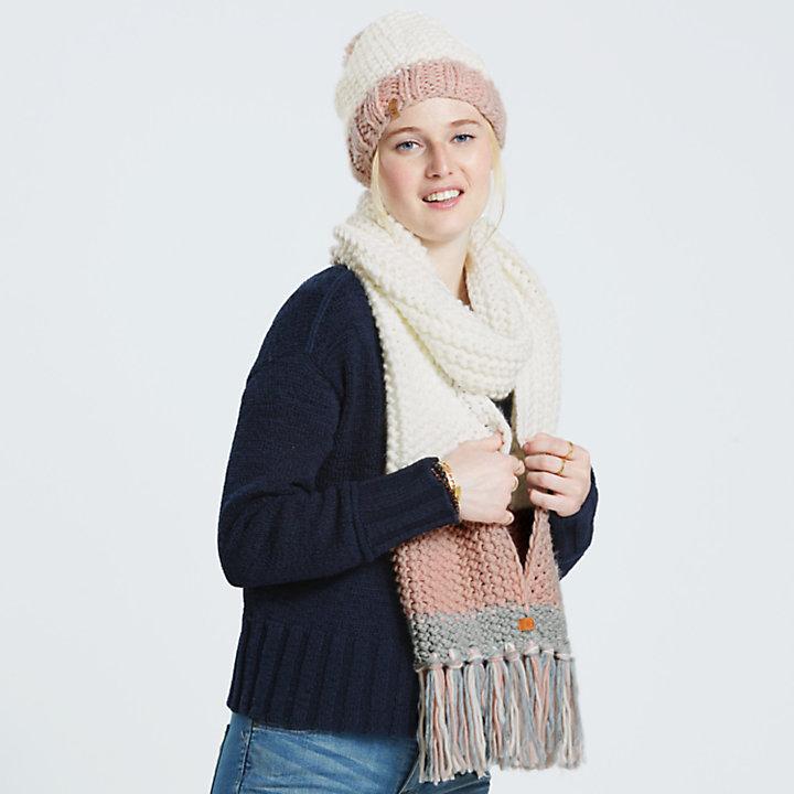 Women's Color Block Cable-Knit Beanie-