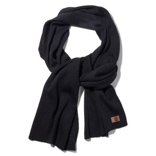 Men's Heathered Ribbed Scarf-