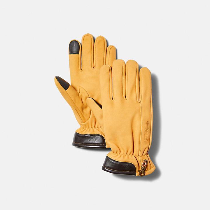 Men's Leather Touchscreen Gloves-
