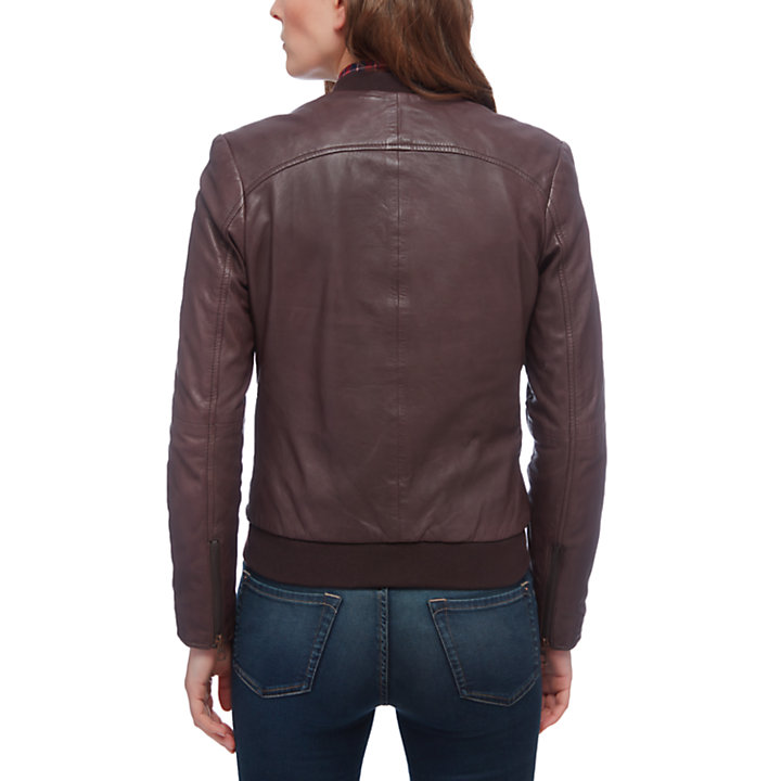 Women's Belknap Leather Bomber Jacket-