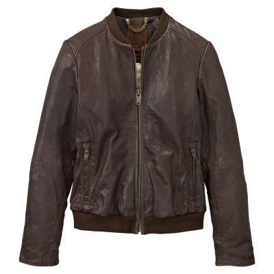 Women's Belknap Leather Bomber Jacket