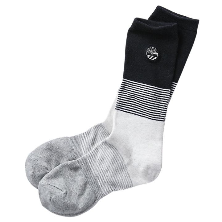 Men's Color Block/Thin Stripe Crew Socks-