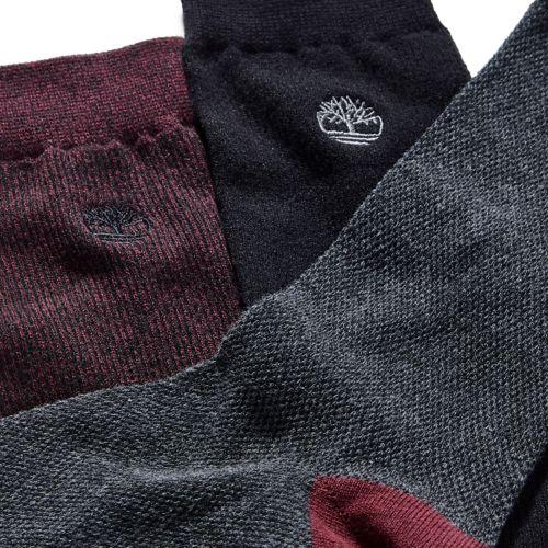 Men's 3-Pack Pique Crew Socks-