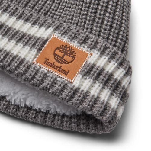 Women's Shaker Striped Pom Beanie-