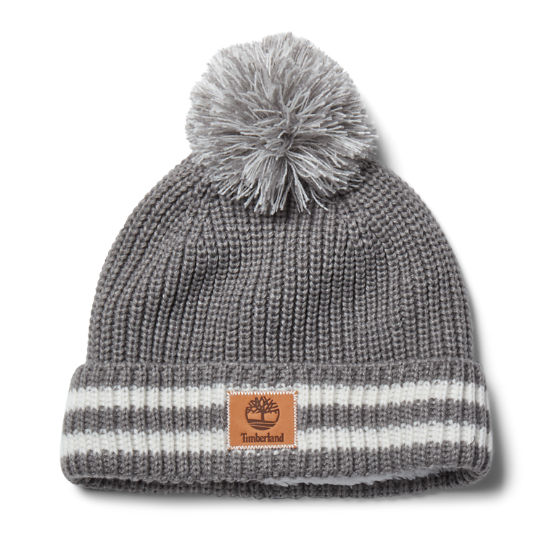 Women's Shaker Striped Pom Beanie