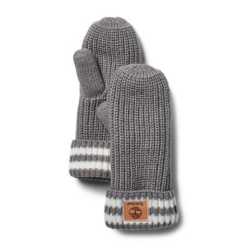 Women's Shaker Striped Mittens-