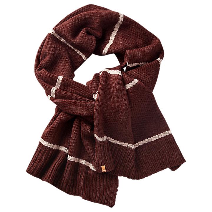 Striped Knit Winter Scarf-