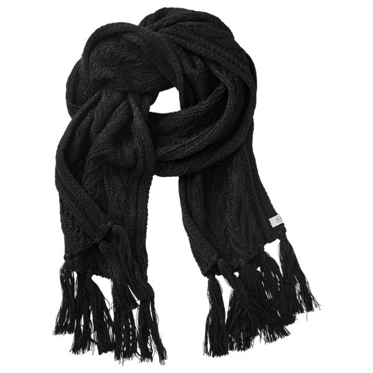 Women's Essential Cable-Knit Scarf