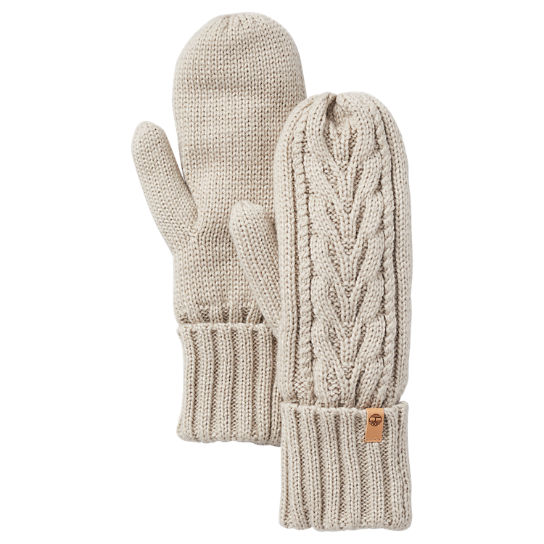 Women's Fleece-Lined Cable-Knit Mittens | Timberland US Store