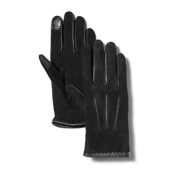 Women's Nubuck Leather Touchscreen Gloves