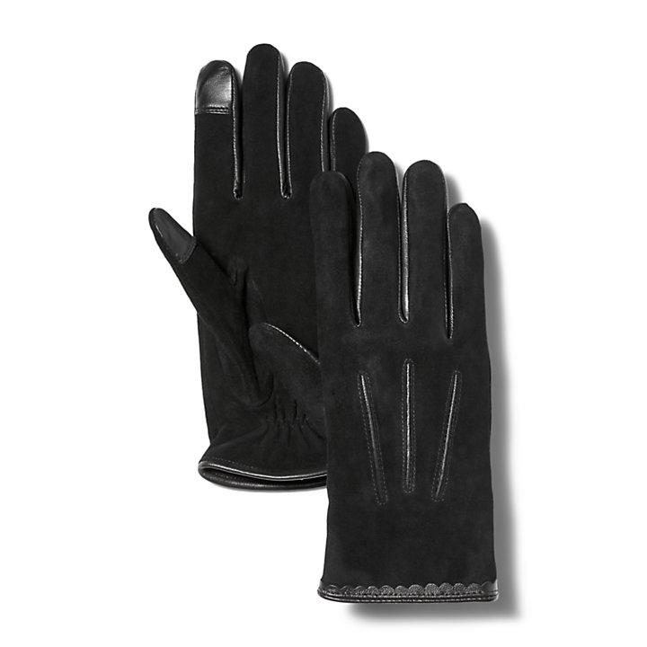 Women's Nubuck Leather Touchscreen Gloves-