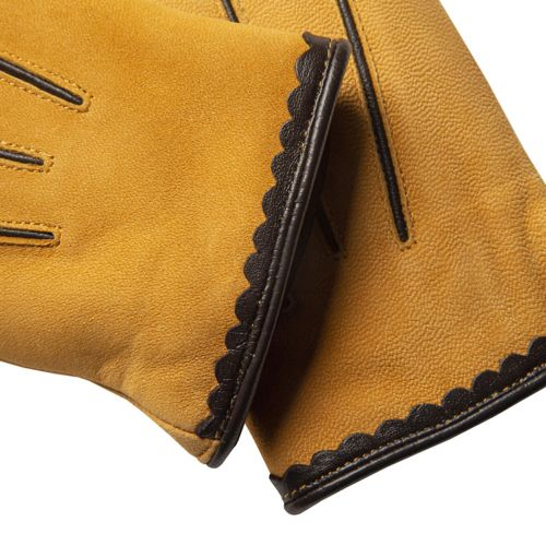 Women's Nubuck Leather Touchscreen Gloves-