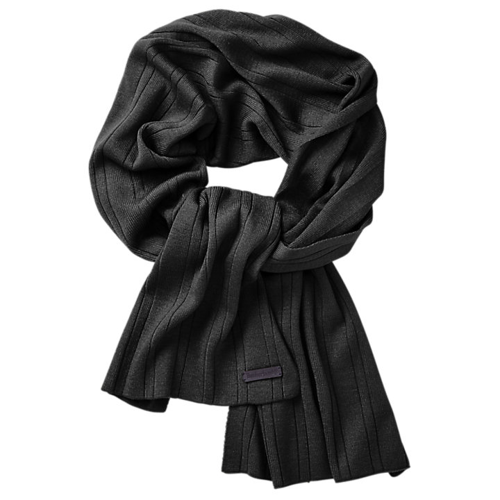 Pinstriped Ribbed Scarf-