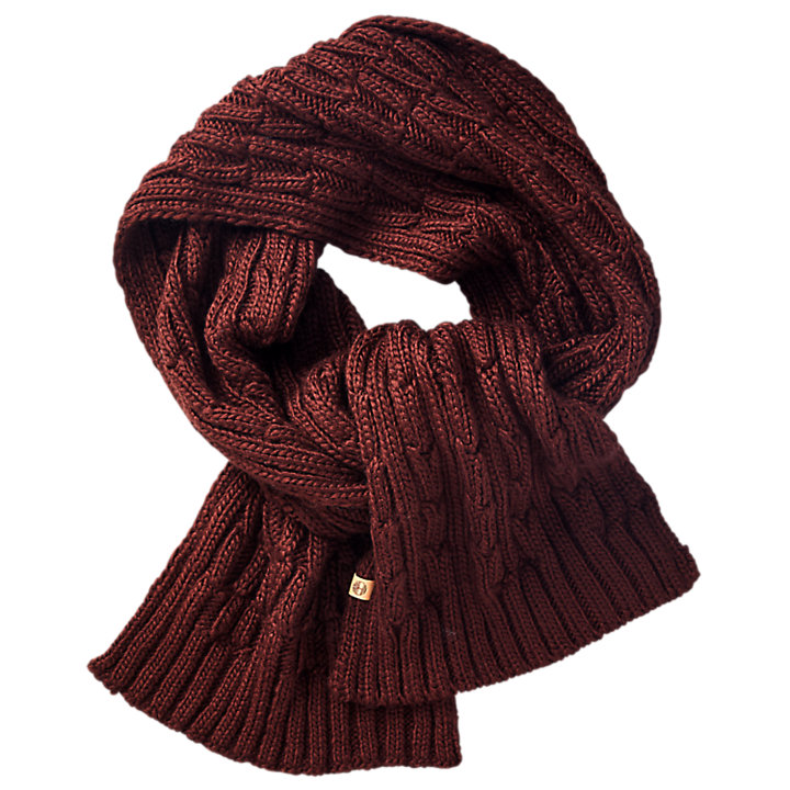 Shadow Lake Cable-Knit Scarf-