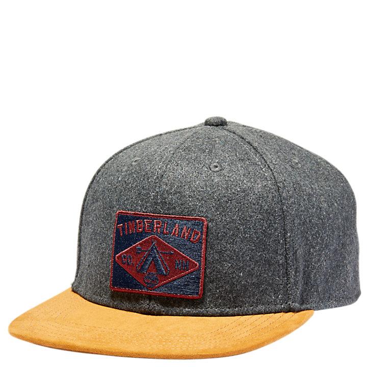 Wool Snapback Logo Cap-