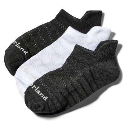 Women's Heathered No-Show Socks (3-Pack)