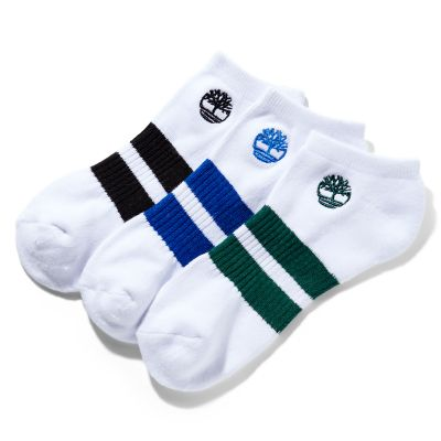 Timberland   Men's Striped No-Show Socks (3-Pack)