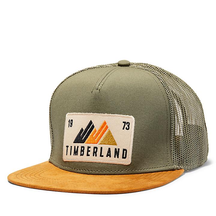 Mountain Patch Flat Brim Trucker Hat-