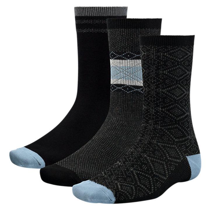 Men's Intarsia Crew Socks (3-Pack)-