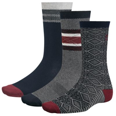 Men's Intarsia Crew Socks (3-Pack)
