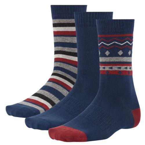 Men's Patterned Crew Socks (3-Pack)-