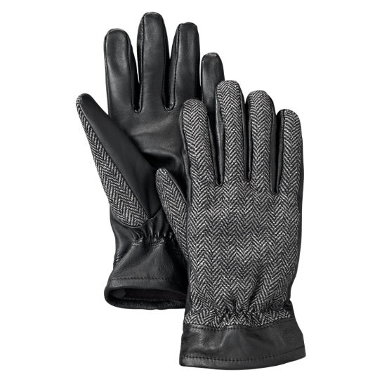 Men's Mixed-Media Winter Gloves