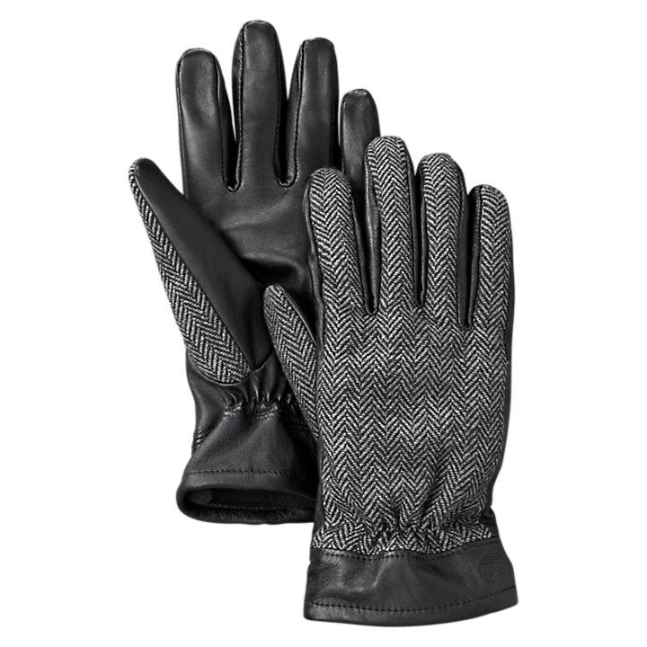 Men's Mixed-Media Winter Gloves-